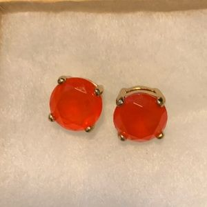 Red/orange Kate spade gumdrop earrings